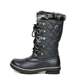 Women's Globalwin Black Waterproof Winter Boots